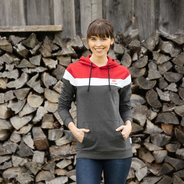 COLOUR BLOCK HOODIE FOR WOMEN