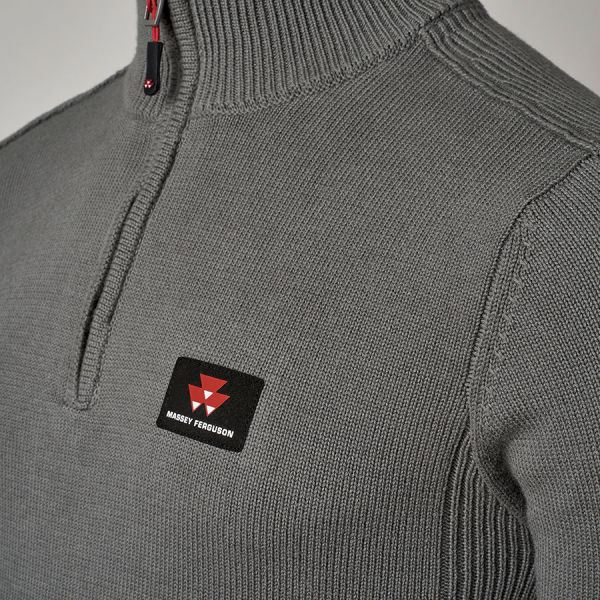 MEN'S PULLOVER WITH BAND COLLAR