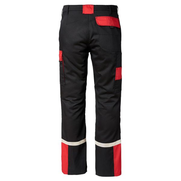 BLACK AND RED WORK TROUSER