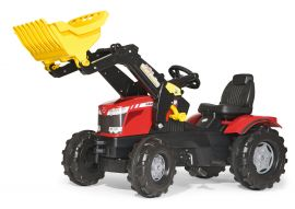 Pedal tractor, MF 7726 with Rollyrac Front loader