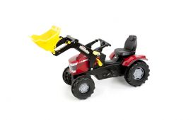 Pedal tractor, MF 7726 with Rollytrac Front loader and pneumatic tires